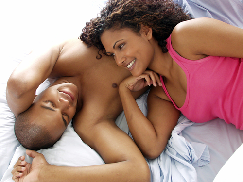 sexual black couple